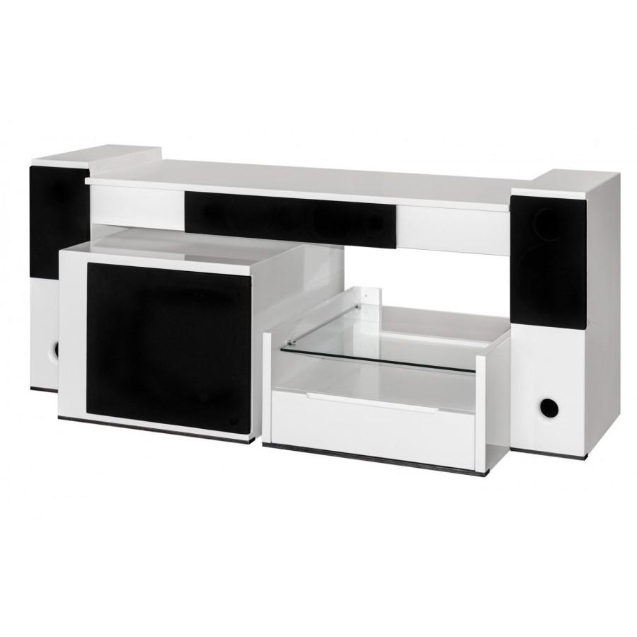 Meuble tv enceintes integrees pas cher ~ Solutions pour la décoration intérie -> Tv Enceintes