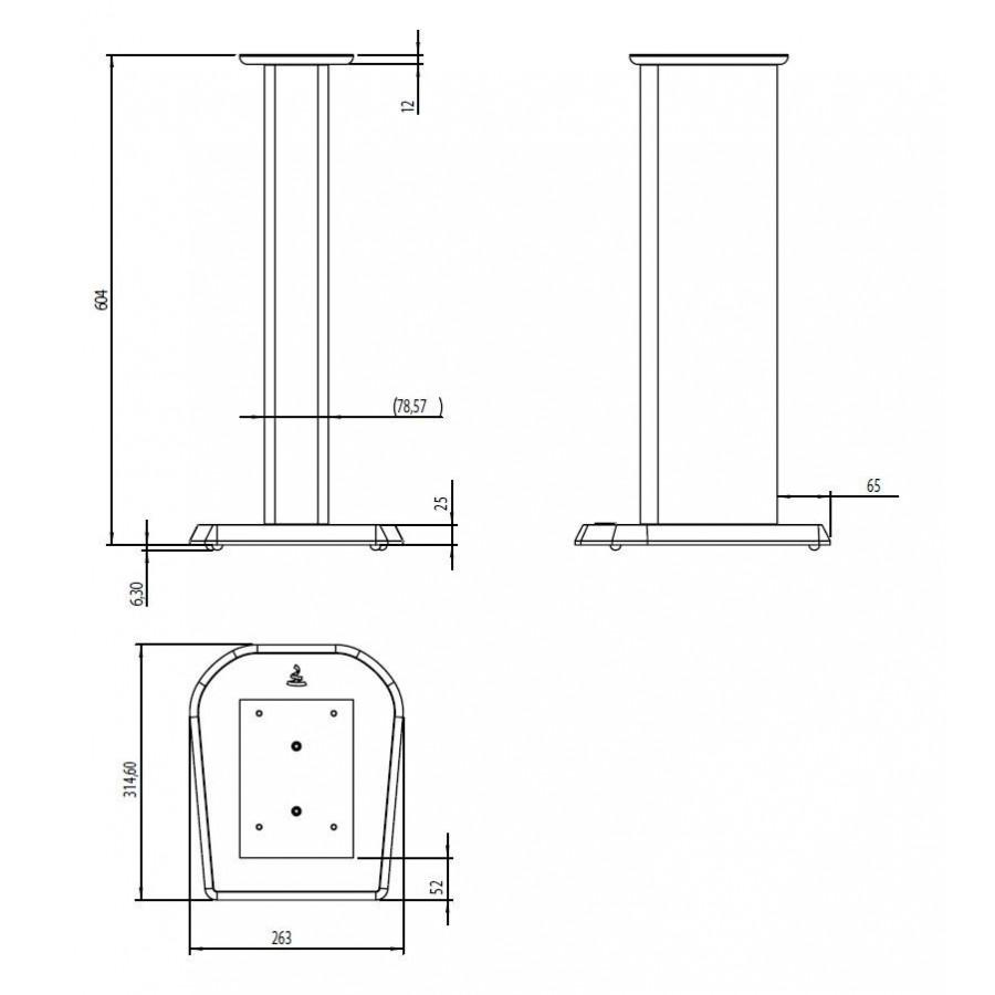 focal aria s 700 pied pour enceintes chorus 705 et 706. Black Bedroom Furniture Sets. Home Design Ideas