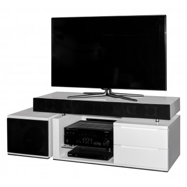 tevica t300 meuble tv avec enceintes int gr es. Black Bedroom Furniture Sets. Home Design Ideas