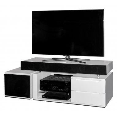 tevica t300 meuble tv avec enceintes int gr es. Black Bedroom Furniture Sets. Home Design Ideas