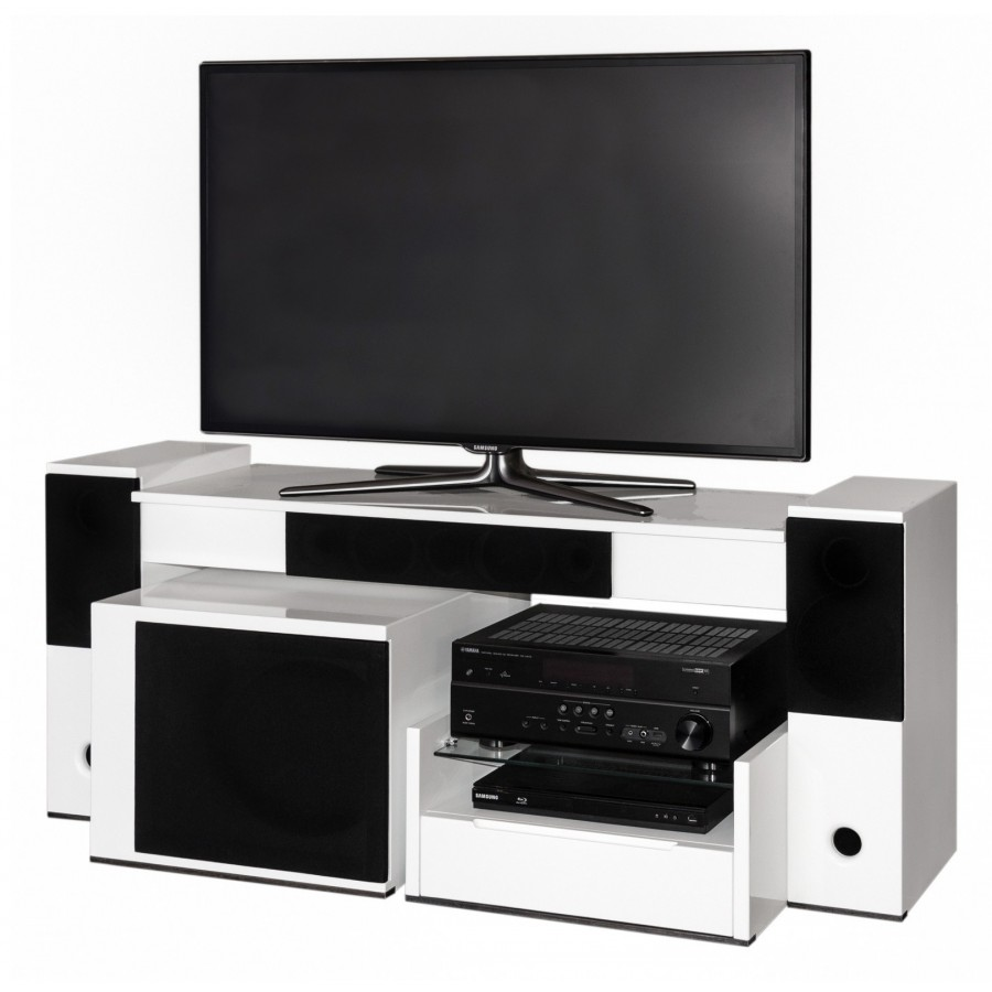 tevica t500 meuble tv enceintes int gr es. Black Bedroom Furniture Sets. Home Design Ideas