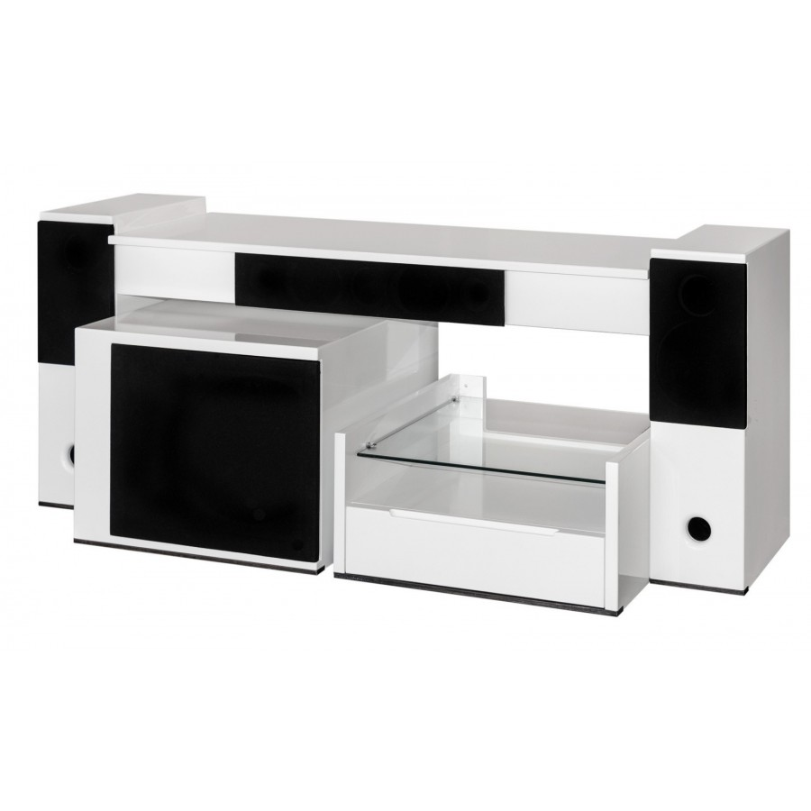 Meuble Tv Hifi Intégré tevica t510 meuble home cinéma avec enceintes intégrées