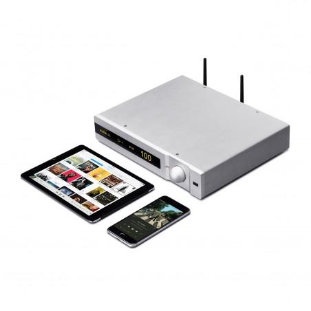 Auralic Polaris silver avec Ipad et Iphone