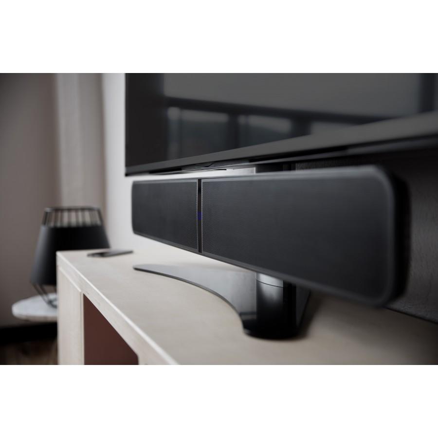 meuble tv avec barre de son meubles de design d 39 inspiration pour la t l vision et. Black Bedroom Furniture Sets. Home Design Ideas